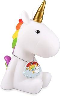 comprar comparacion Navaris lámpara nocturna LED con diseño de unicornio - luz de color cambiante para niños bebés - unicornio blanco con colg...
