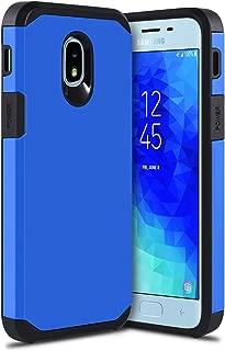 Samsung Galaxy J3 2018 Case,J3 Achieve/J3 Orbit/J3 Express Prime 3/J3V J3 V 3rd Gen/Sol 3/J3 Star/Amp Prime 3/J3 Top/J3 Aura Case,Dual Layer Shockproof Hybrid Case-Blue