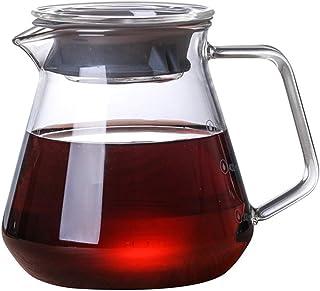 WEIXIAO WLKH Pot de café avec Couvercle Verser sur Une cafetière Pot de thé à Goutte à Goutte Portable (Couleur : 300ML)