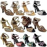 50 Shades Animal Print Ballroom Latin Dance Shoes for Women: SERA7017 Blue Snake 3' Heel Size 8 1/2