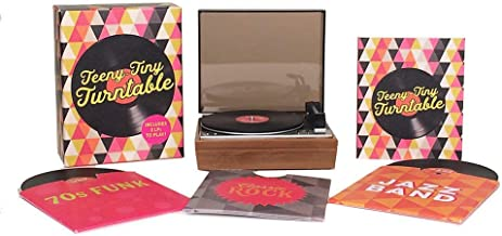Teeny-Tiny Turntable- Includes 3 Mini-LPs to Play! Paperback [Running Press]