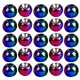 KLOVA 25 Piezas Think Fast Think Deep tungsteno Bolas Redondas Materiales para Atar Moscas 5 Colores Pesca con Mosca Bola de Frijoles de tungsteno