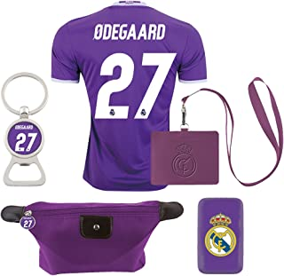 #27 Odegaard (6 in 1 Combo) Real Madrid C.F. Away Match Adult Soccer Jersey 2016-2017