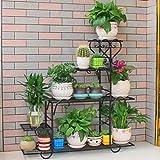 MUZIDP Blumenregal,Display lagerregal,Eisen Pflanze-ständer Blumentopf Für Indoor Balkontür Schlafzimmer Wohnzimmer-C 88x25x95cm(35x10x37)