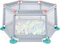 Baby Playpen Hexagona Easy to Install and Carry Safety Fence Foldable & Compact, Strong and Durable Play Pen