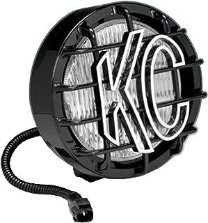 KC HiLiTES 1131 97-04 JEEP Wrangler TJ Replacement Single Fog Light; 55w Black SlimLite Black with Stone Guard