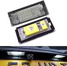 PolarLander 2pcs 6500K 18 LED SMD Matrícula Luces Bombillas Lámparas para B-MW E46 4D (98-05) 323i 325i 328i 99-03 330xi 330i 325xi