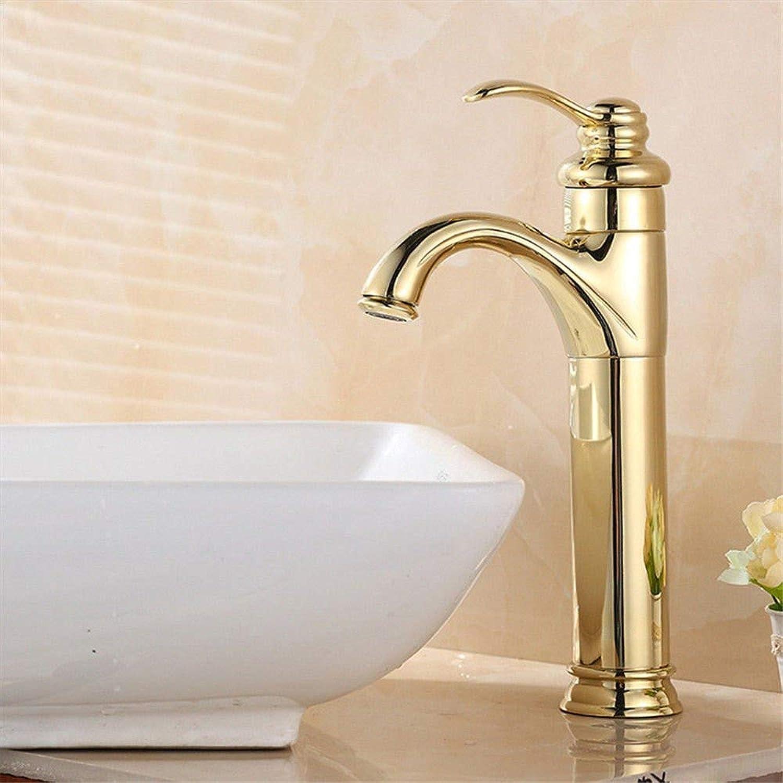 Wasserhahn Küche Waschbecken Badezimmer Wasserhahn warmes und kaltes Wasser 1 Loch Einhebel Einhebel Waschtischarmatur für Badezimmer Küchenarmatur