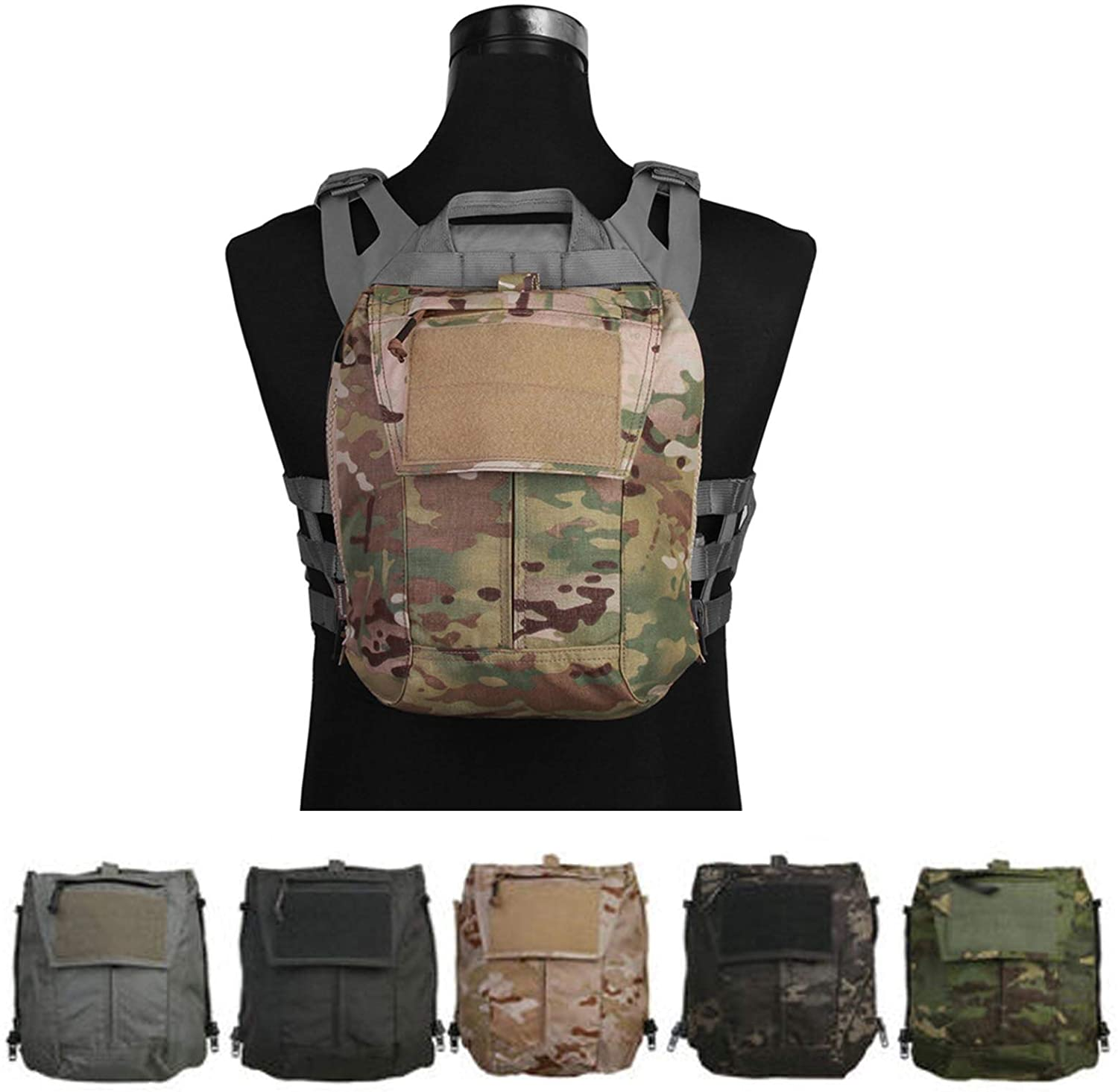 Tactical Pouch Zip-ON Panel for レビューを書けば送料当店負担 Vest Plate CP AVS Carrier JPC2.0 クリアランスsale 期間限定