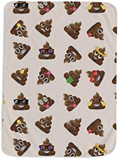 Royal Linen 1 Piece Cartoon Lovely Poop Emoji Blankets for Kids Adults Couch Sofa car Throw Blanket 45''63'' (JF440B)