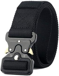GoodTake Men's Training Belt Tactical Belt,Duty Belt, Web Belt, 1.5 Inch Military Style Riggers Belt for Men