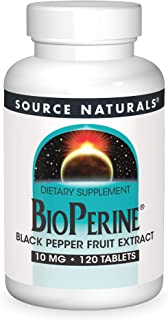 Source Naturals BioPerine - Black Pepper Fruit Extract, Promotes Nutrient Absorption - 120 Tablets