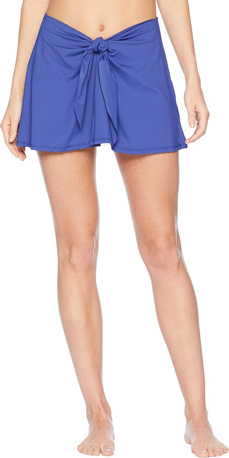 Becca by Rebecca Virtue Women's color Code TieFront Skirt Swim Cover Up