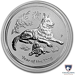2018 AU Australia Silver Lunar Dog Commemorative Ungraded