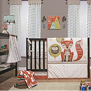 Clever Fox 4 Piece Baby Crib Bedding Set by Little Haven