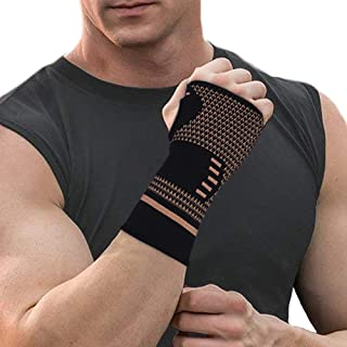 CROSS1946 Copper Wrist Support Compression Sleeves for Wrist Pain Relief,Wrist Brace for Carpal Tunnel Syndrome,Wrist Pain...