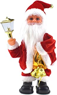 Mintuse Christmas Santa Decoration Doll Claus Musical Electric Drilling Chimney/Handstand/Dancing Hanging Ornament Toys Educational Dolls (Dancing Hanging)