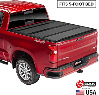 BAK BAKFlip MX4 Hard Folding Truck Bed Tonneau Cover | 448406 | Fits 2005-15 Toyota Tacoma, w/OE track system 5` Bed