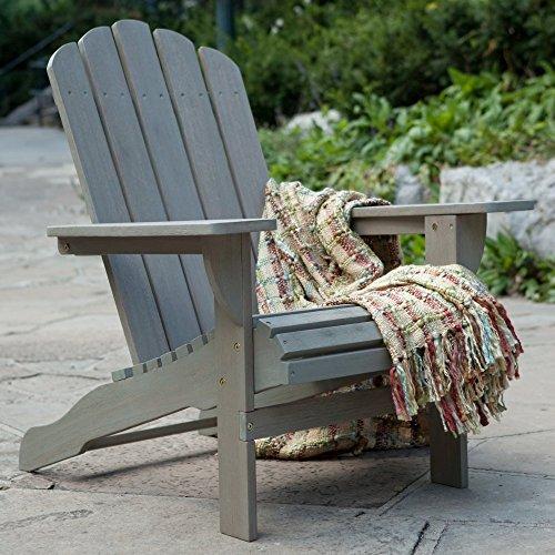 Belham Living Shoreline Wooden Adirondack Chair - Driftwood
