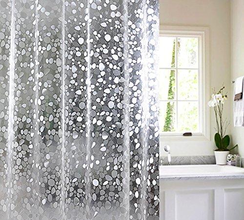 Rideaux de douche Doublure de rideau de douche avec crochets Rideau de douche salle de bain Longue baignoire PEVA Rideau de douche blanche Rideaux de douche de haute qualité (taille : 150cm*200cm)
