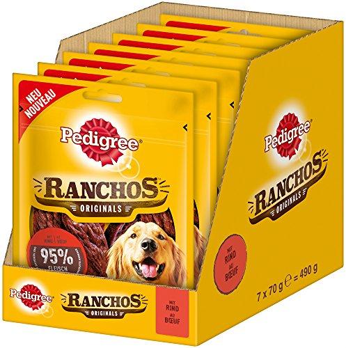 Pedigree, Ranchos Originals, Snack per Cani, 7 Confezioni da 70 g
