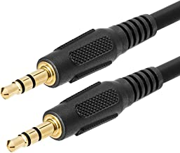 Cmple - 3.5mm Aux Male to Male Stereo Audio Cable Auxiliary Headphones Cord MP3 PC - 100 Feet