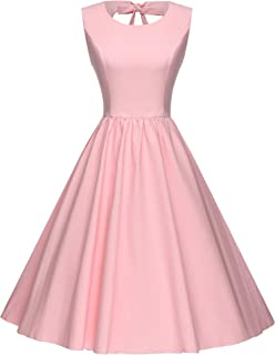 GownTown Women's 1950's Retro Sweetie Swing Stretchy Dresses