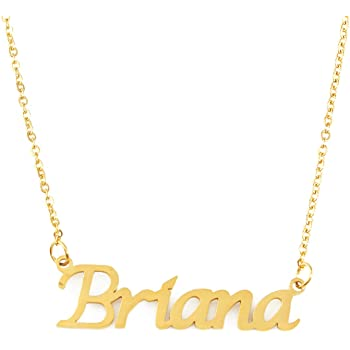 18ct Rose Gold Plated Zacria Briana Name Necklace
