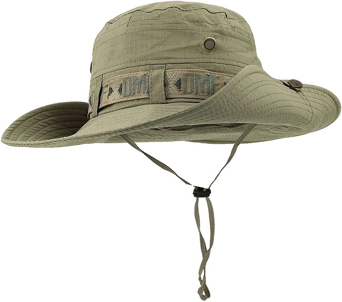 TREESTAR Unisex Bucket Hats Spring Summer Wide Brim Cotton Camo Cap for Outdoor Climbing Fishing Jungle Campinghat