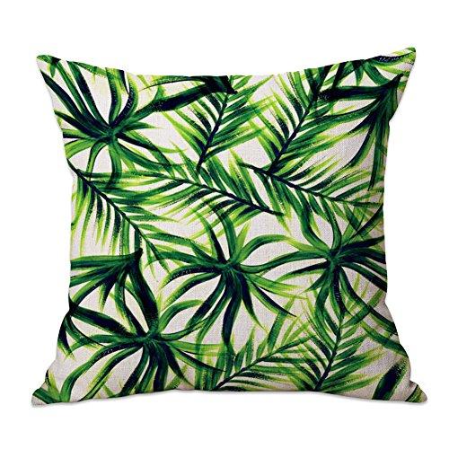 MoGist Taie d'oreiller pour Plantes Tropicales 1 Pcs Vert 45X45Cm Linge Matériau; Style Plante Tropicale 04