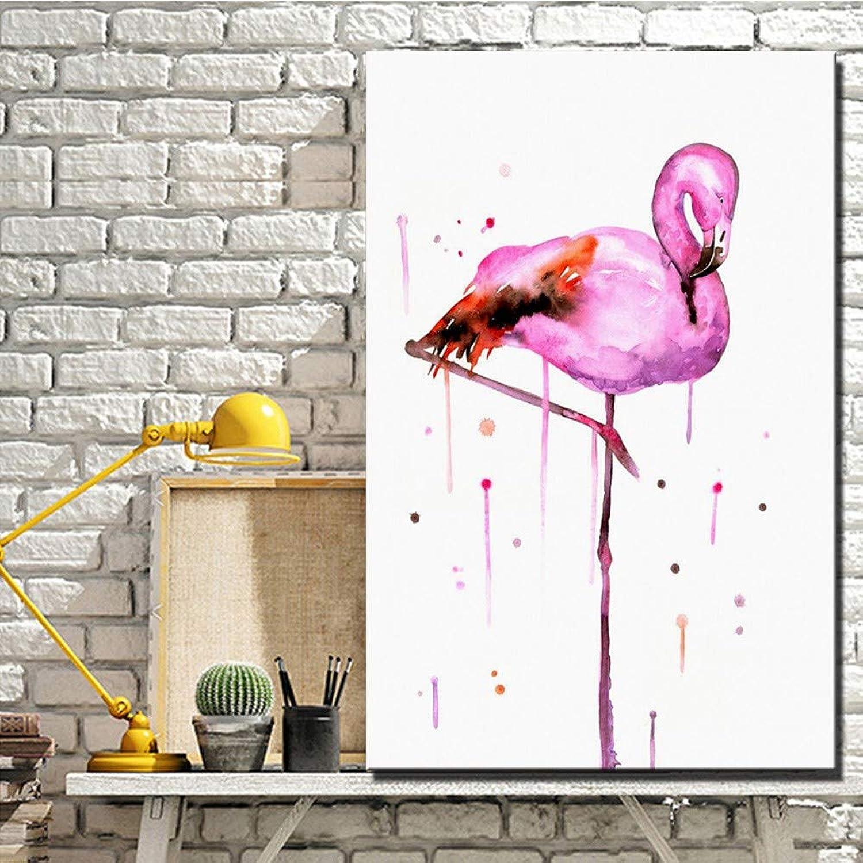 tomar hasta un 70% de descuento ZJMI Pintura Decorativa Grandes lienzos flamencos Color Rojo Abstracto sin sin sin enmarcar Aves Carteles e Impresiones para nios la decoración de la Habitación Fotos-60×90cm  más vendido