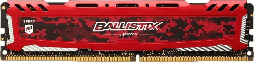 Crucial Ballistix Sport LT 3200 MHz DDR4 DRAM Desktop Gaming Memory Single 16GB CL16 BLS16G4D32AESE (Red)