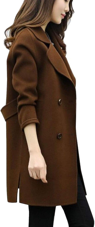 Winter Long Wool Coat Women Button Solid Button Woman Black Long Coats Winter Outerwear
