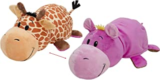 """Best FlipaZoo The 16"""" Pillow with 2 Sides of Fun for Everyone Each Huggable FlipaZoo character is Two Wonderful Collectibles in One (Giraffe / Hippo) Review"""