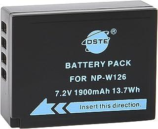 DSTE Recargable Litio Batería Compatible para NP-W126 y Fujifilm FinePix HS30EXRHS33EXRHS35EXHS50EXRX-A1X-A2X-A3X-E1X-E2X-M1X-Pro1X-T1X-T2X-T10XFmmf2 Digital Cámara