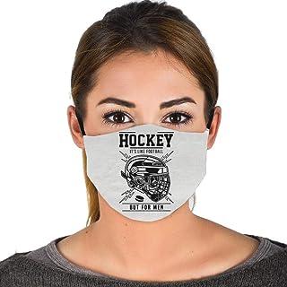 Hockey It's Like Football But for Men-Funny Hockey Face Mask Balaclavas Black