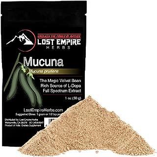 LostEmpireHerbs Organic Mucuna Pruriens (30g Bag of Powdered Extract)