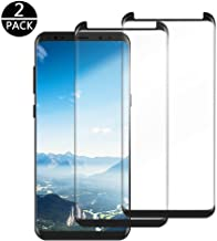 Galaxy S8 Screen Protector [2-Pack], Lifecolor Full Coverage Tempered Glass Phone Screen Protector, 9H Hardness 3D Curved Protection Glass for Samsung Galaxy S8