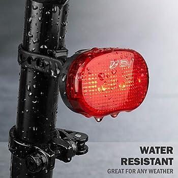 ghfcffdghrdshdfh 1pc 7LED Bike Bullfrog Lamp Faros Luces traseras Luces de Bicicleta Luz de precauci/ón Blue