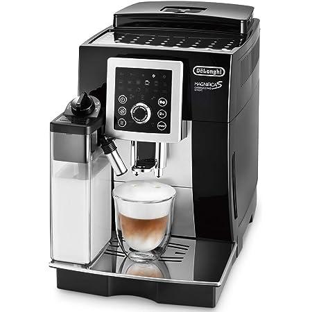 【スタンダードモデル】デロンギ(DeLonghi)コンパクト全自動コーヒーメーカー ブラック マグニフィカ S カプチーノ スマート 自動カフェラテ・カプチーノ機能 ECAM23260SBN