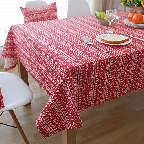 Cervo rosso Tovaglie, copertura da tavolo in cotone 100%, decorazione natalizia per cucina tavolo da pranzo-40 * 60 cm.