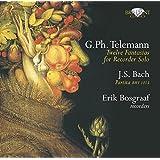 テレマン:12の幻想曲 TWV 40:2-13/J.S.バッハ:パルティータ BWV.1013(G.Ph.Telemann:Twelve Fantasias for Recorder Solo/J.S.Bach:Partita BMW 1013