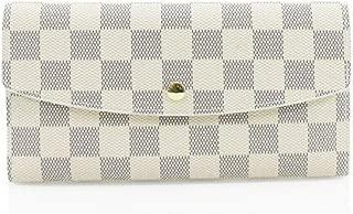 Tobert Ladies Fashion Checked Purse Women's Folded Magdot Closure Wallet Card Holder