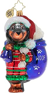Christopher Radko Doggity Dachshund Christmas Ornament, Multicolor