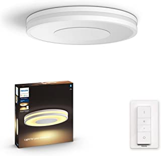 Philips Hue Being White Ambience Smart Ceiling Light LED with Bluetooth, White & Dimmer Switch- Home, Indoor, Living Room,...
