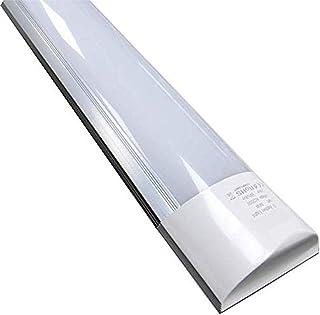 Pantalla Luminaria Lampara de Techo LED 150cm 48w. Color Blanco Frio (6500K). 4000 lumenes. T8 integrado. A++