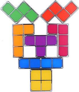 Luz Nocturna apilable Tetris, 7 Colores de luz Nocturna Puzzle LED Lámpara de Escritorio de inducción Que se enclavija Juguetes 3D