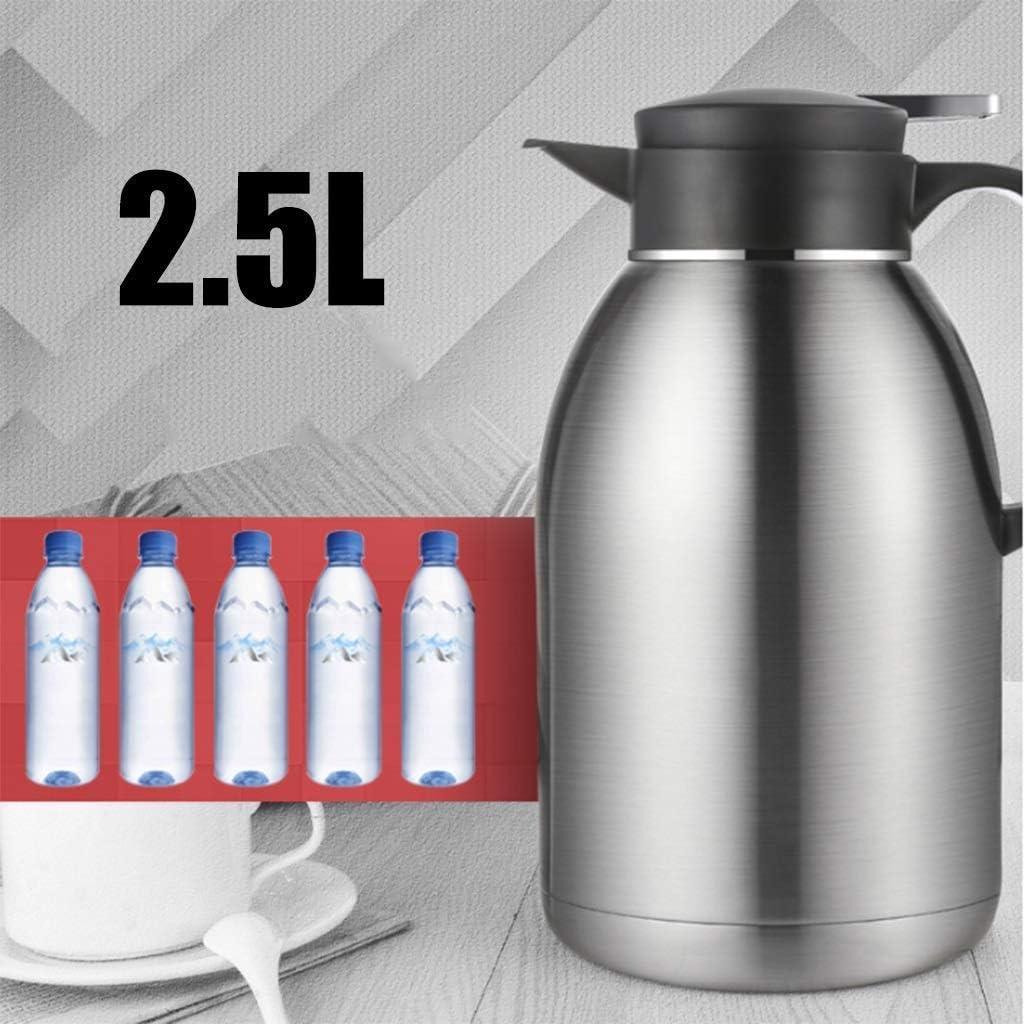 LSNLNN Bekers, Isolatie Pot Huishoudelijke Grote Capaciteit 304 Roestvrij Staal Waterkoker Europese Stijl Waterkoker 2.5L Drinkflessen, Sier Sier