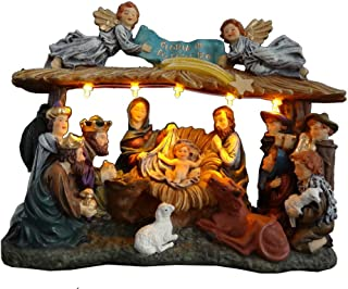 Top Treasures Christmas Nativity Set | Lighted Christmas Village Nativity Scene is a Great Perfect Addition to Your Christmas Indoor Decorations & Holiday Displays