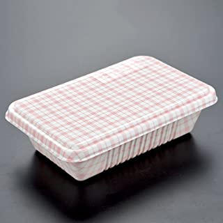 800ml Disposable Fast Food Box Plastic Safe Portable Reusable Stackable (100 Sets) ( Color : Brown )